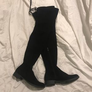 Catherine Malandrino Black Over the Knee Boots Sz8